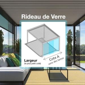 Cloisons vitrées Coulissantes, Rideaux de Verre (Cote A)