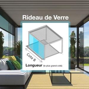 Cloisons vitrées Coulissantes, Rideaux de Verre (Cote B)